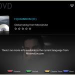 PowerDVD 9 Cinema Mode: Colour coded button