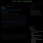 A screencap of the Google cache of Lily Allen's anti-piracy blog, which has now been closed