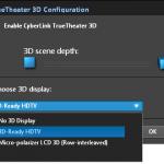 PowerDVD 10: TrueTheater 3D Settings