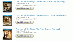 The Lord of the Rings Amazon Purchase