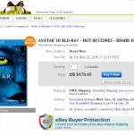 Avatar 3D Blu-ray for sale on eBay