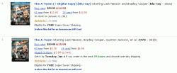 Blu-ray and DVD pricing on Amazon.com