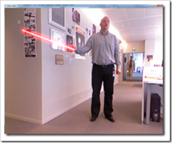 Kinect Light Saber Demo