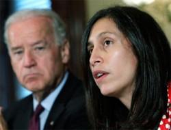Joe Biden and Victoria Espinel