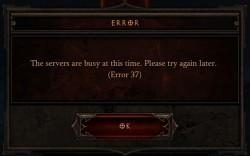 Diablo 3 - Error 37