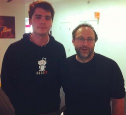Richard O'Dwyer and Jimmy Wales