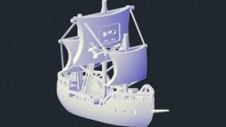 The Pirate Bay 3D Ship Model