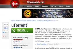 CNET Download.com uTorrent