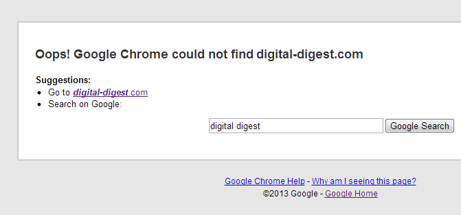 Digital Digest Down