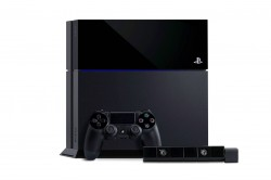 PS4 with controller and PS Eye
