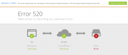 CloudFlare Error Page