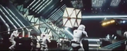 Screenshot from pirated cam version of Star Wars: The Force Awakens