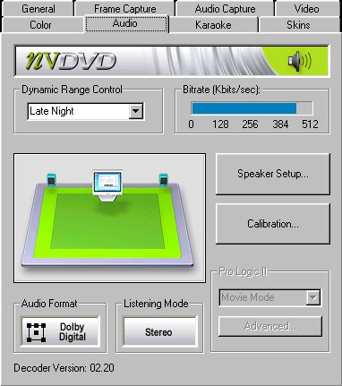 NVDVD Audio Setup