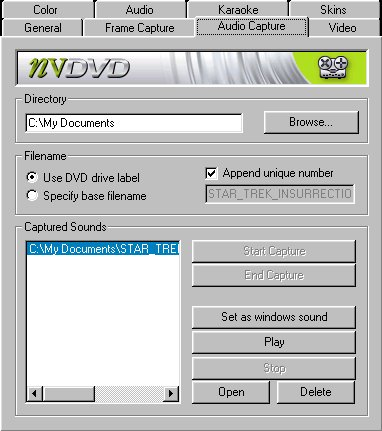 NVDVD Frame Capture