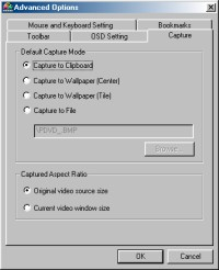 PowerDVD 4.0's Capture Options