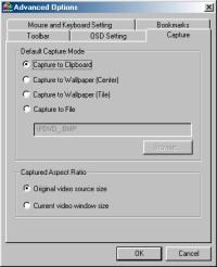 PowerDVD 4.0's Capture Options