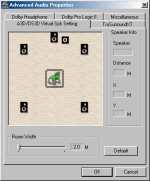 PowerDVD 4.0's Virtual Speakers Settings