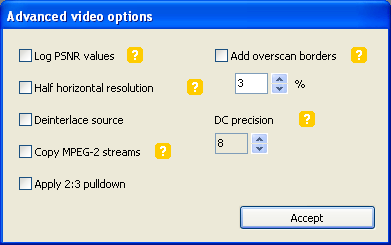 DVD Flick: Advanced Video Settings