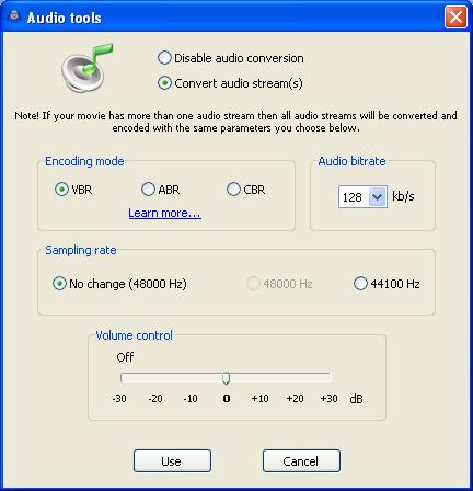 AVI ReComp: Audio Conversion