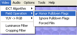 DGIndex: Honor Pulldown Flags