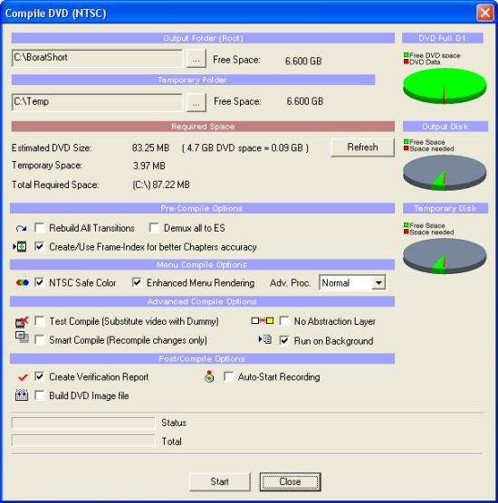 DVD-lab Pro: Compile DVD