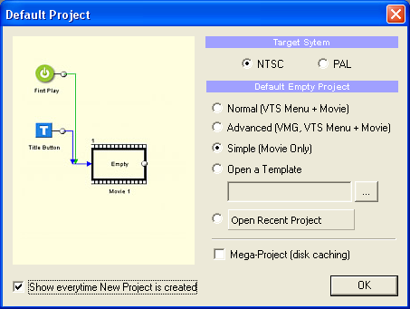 DVD-lab Pro: Default Project