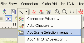 DVD-lab Pro: Add Scene Selection Menu
