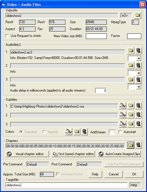 GUI for dvdauthor: Source