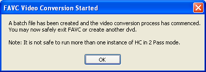 FAVC: Conversion Started