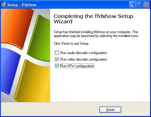 ffdshow Install: Finish