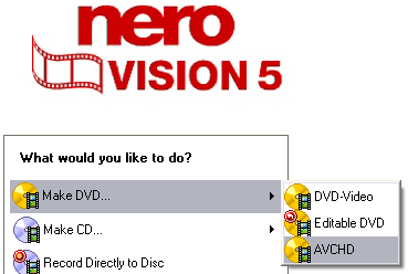 nero vision 5 avchd authoring guide page 2 of 6 articles rh digital digest com Nero 6 Windows 7 Nero Express 6.6