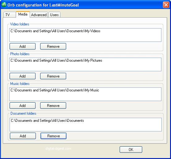 Orb Configuration: Media