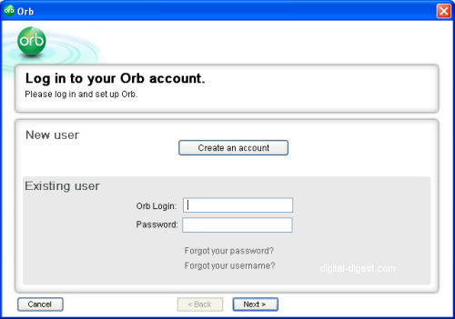 Orb: Setup Wizard