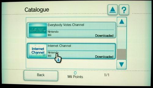 Wii Shop: Wii Internet Channel
