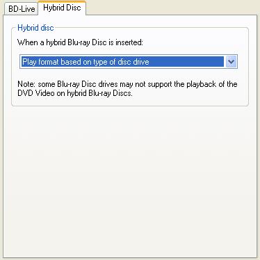 PowerDVD 10 Configuration: Blu-ray Disc - Advanced