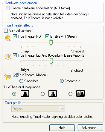 PowerDVD 10 Configuration: Video