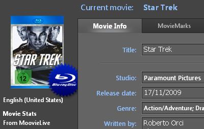 PowerDVD 10: Movie Info