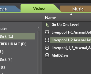 PowerDVD 10: Video Tab