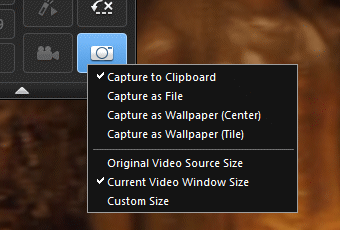 PowerDVD 11: Capture Options
