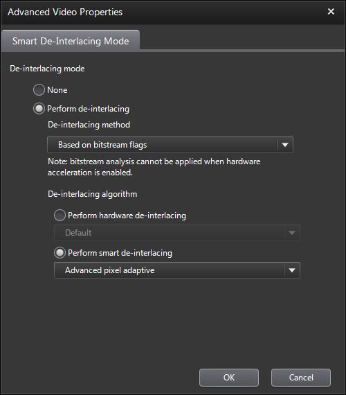 PowerDVD 11 Configuration: Video - Advanced