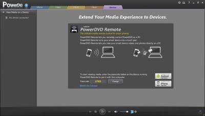 PowerDVD 11: Device Connect