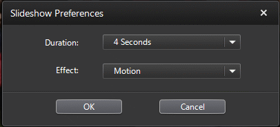 PowerDVD 11: Slideshow Settings
