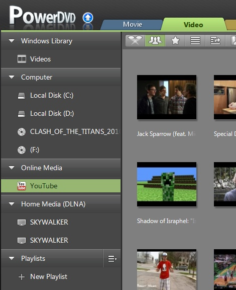 PowerDVD 11: Video Tab