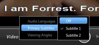 PowerDVD 11: Video Subtitles