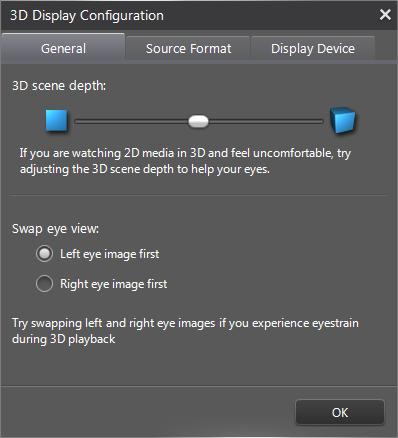 PowerDVD 12: 3D Configuration: General