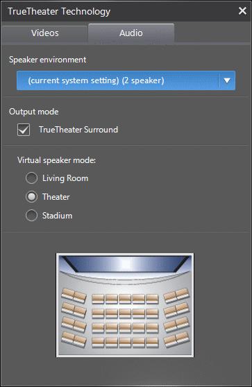 PowerDVD 12 Configuration: Video - TrueTheater: Audio