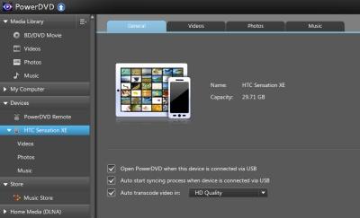 PowerDVD 12: Smart Sync