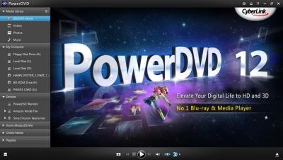 PowerDVD 12: UI