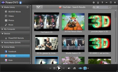 PowerDVD 12: YouTube Native 3D Support