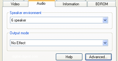 PowerDVD 8 Configuration: Audio